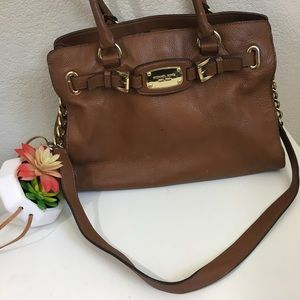 MICHAEL Michael Kors brown Hamilton satchel